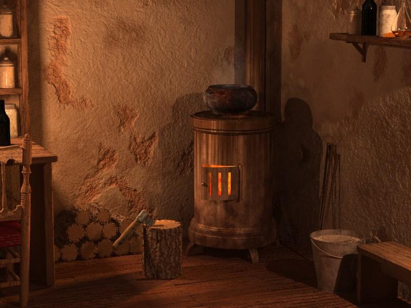 Tipos de estufas de le a calsotada - Estufa antigua de lena ...